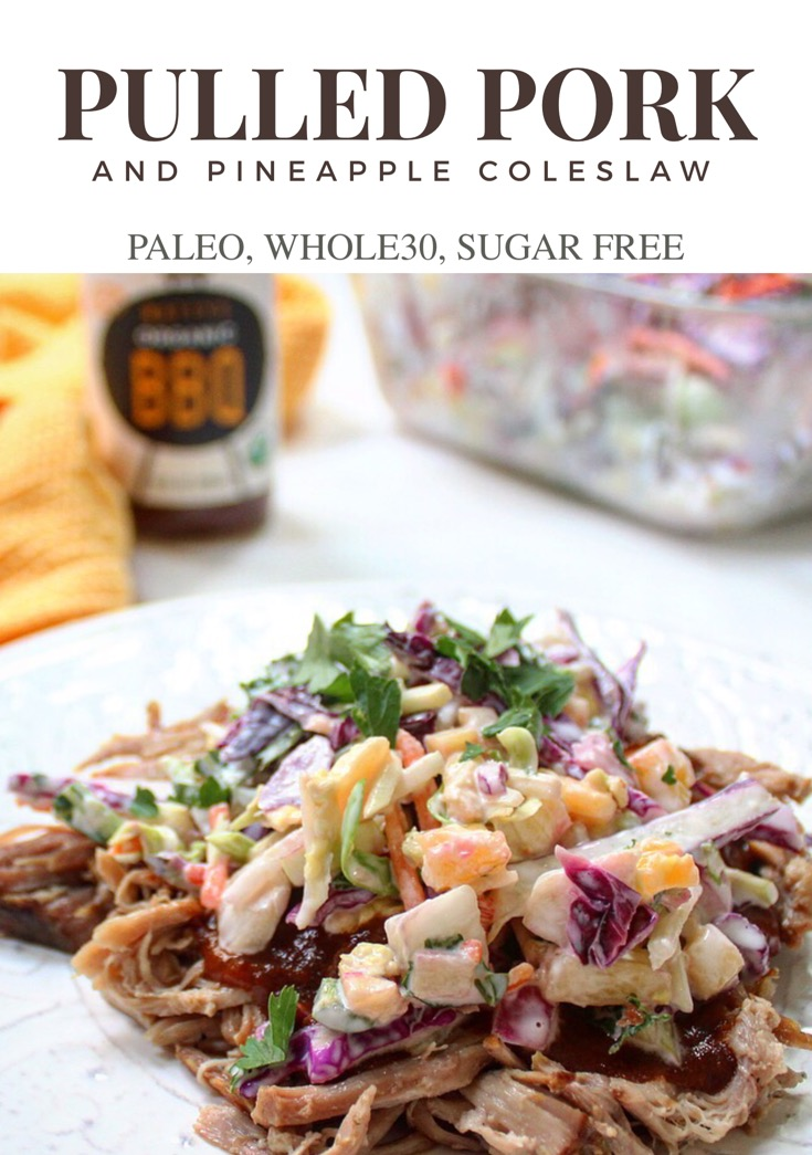 pulled pork with pineapple coleslaw