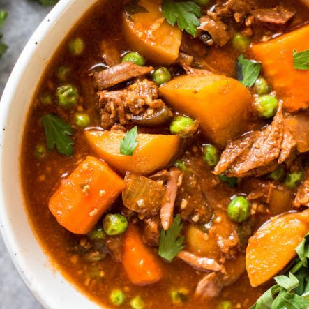 Easy Slow Cooker Beef Stew: Whole30, Paleo, Gluten-Free