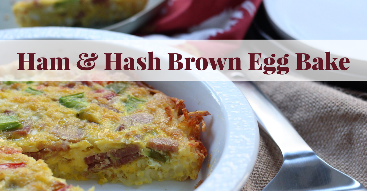 Paleo ham egg bake is the perfect family friendly leftover ham recipe. It works for both hosting a brunch or simple Whole30 meal prep to have grab-and-go breakfasts for the week. Everyone loves the hash brown crust in this Whole30 breakfast casserole too! #whole30eggbake #paleoeggbake #paleoham