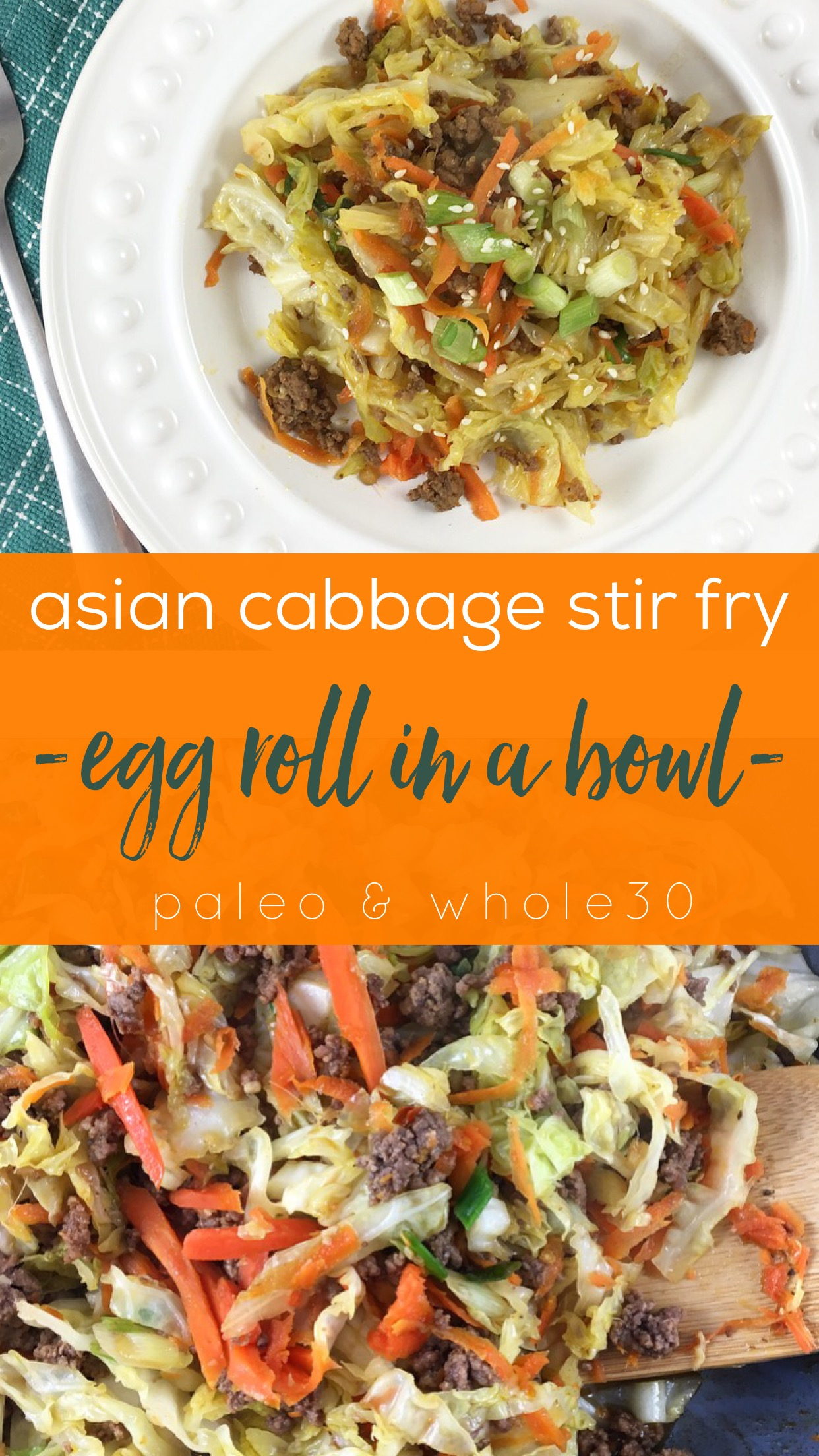 Paleo and Whole30 Egg Roll in a Bowl