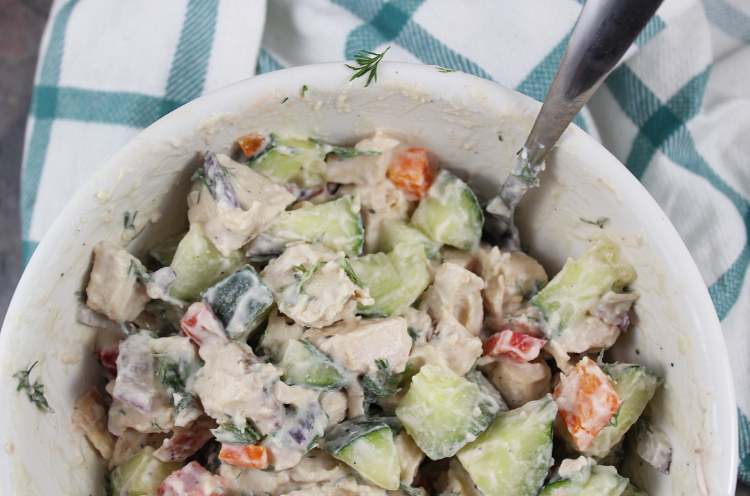 cucumber dill chicken salad