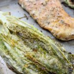 roasted caesar salmon and romaine