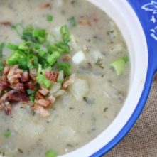 Whole30 and Paleo Potato and Bacon Chowder: Instant Pot and Slow Cooker Variations