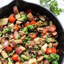 Mediterranean Sausage Hash: Whole30 Egg-Free Breakfast