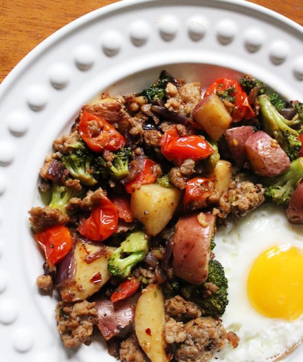 mediterranean sausage hash