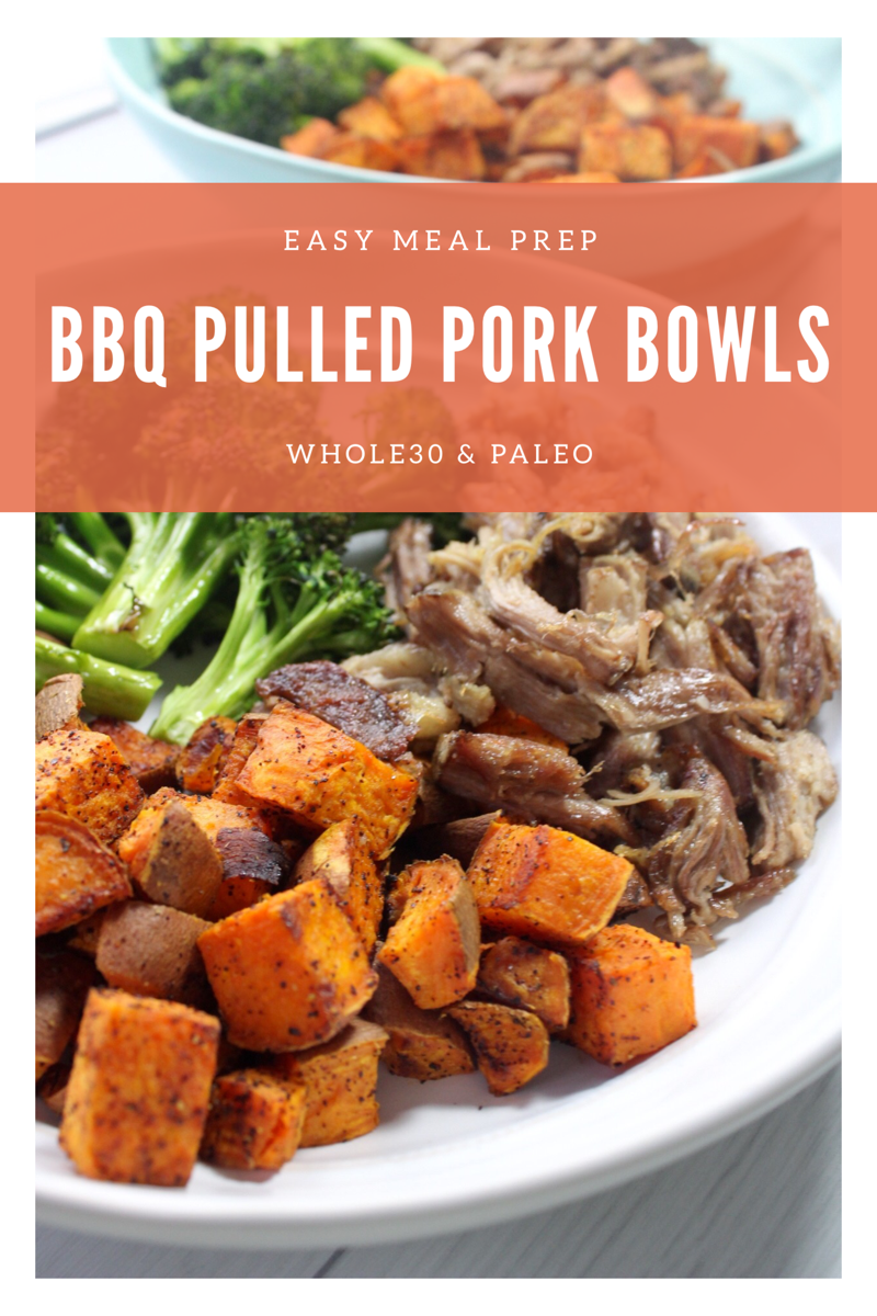 BBQ pulled pork bowls Paleo and whole30