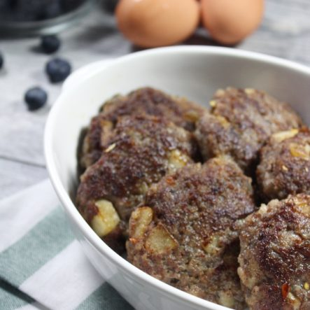 Pear and Rosemary Breakfast Sausage Patties