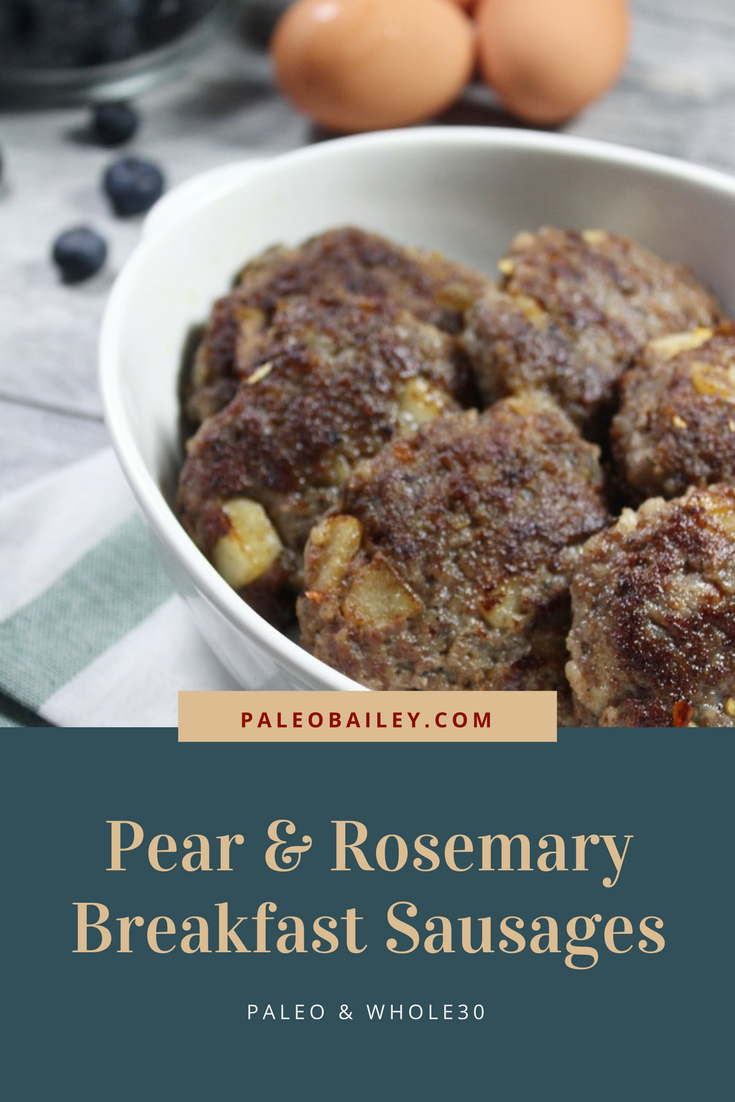 pear and rosemary breakfast sausages