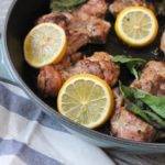paleo lemon and basil chicken thighs