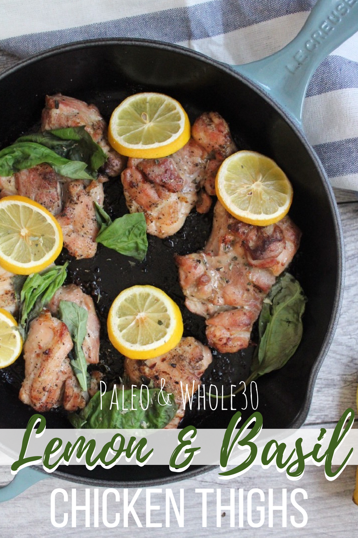 paleo lemon basil chicken thighs