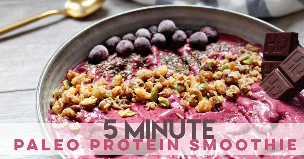 5 Minute Paleo Protein Smoothie - Whole Kitchen Sink