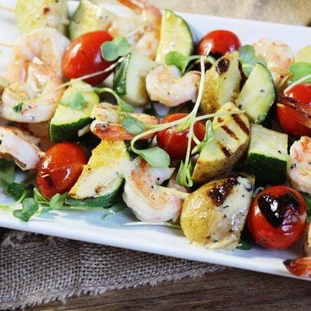Grilled Caesar Shrimp Skewers: Easy Weeknight Dinner