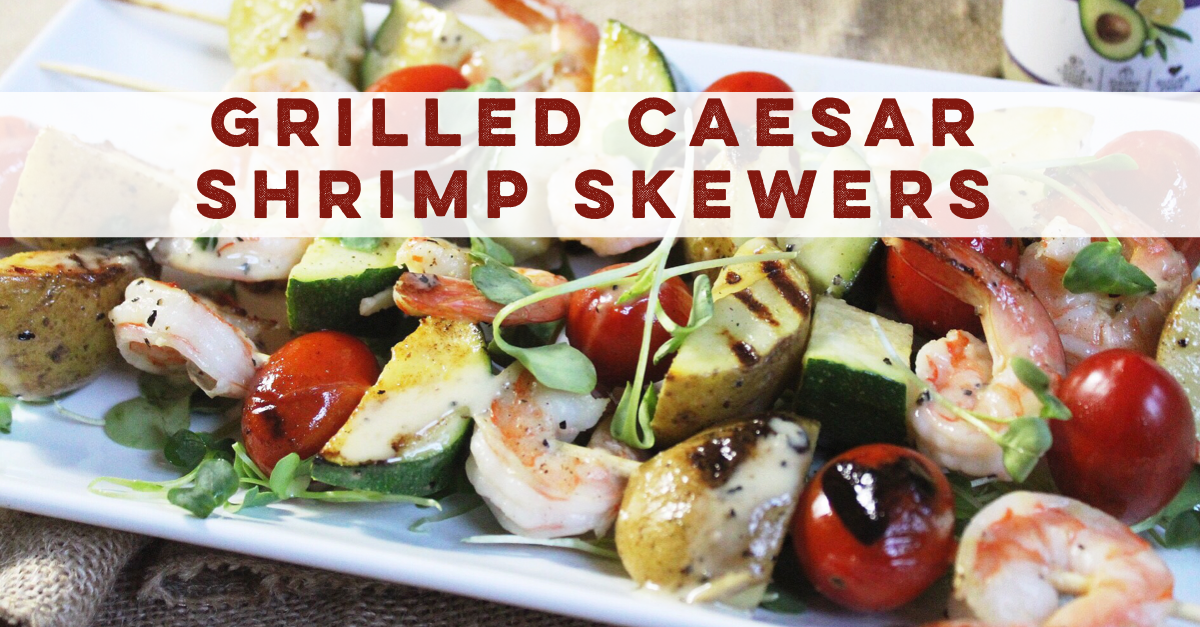caesar shrimp skewers
