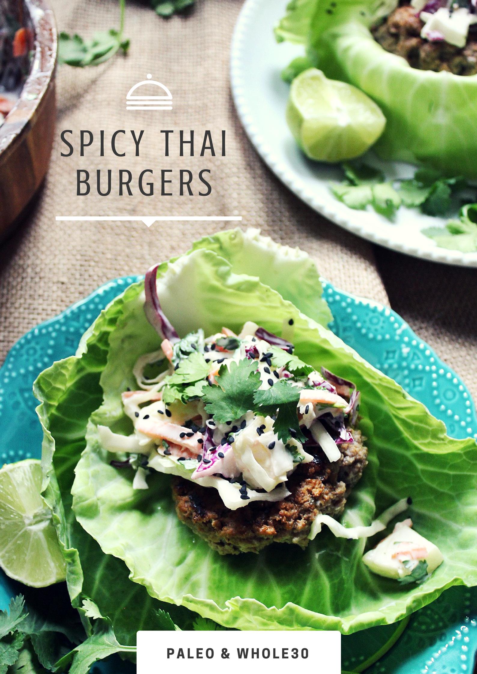 whole30 spicy thai burgers