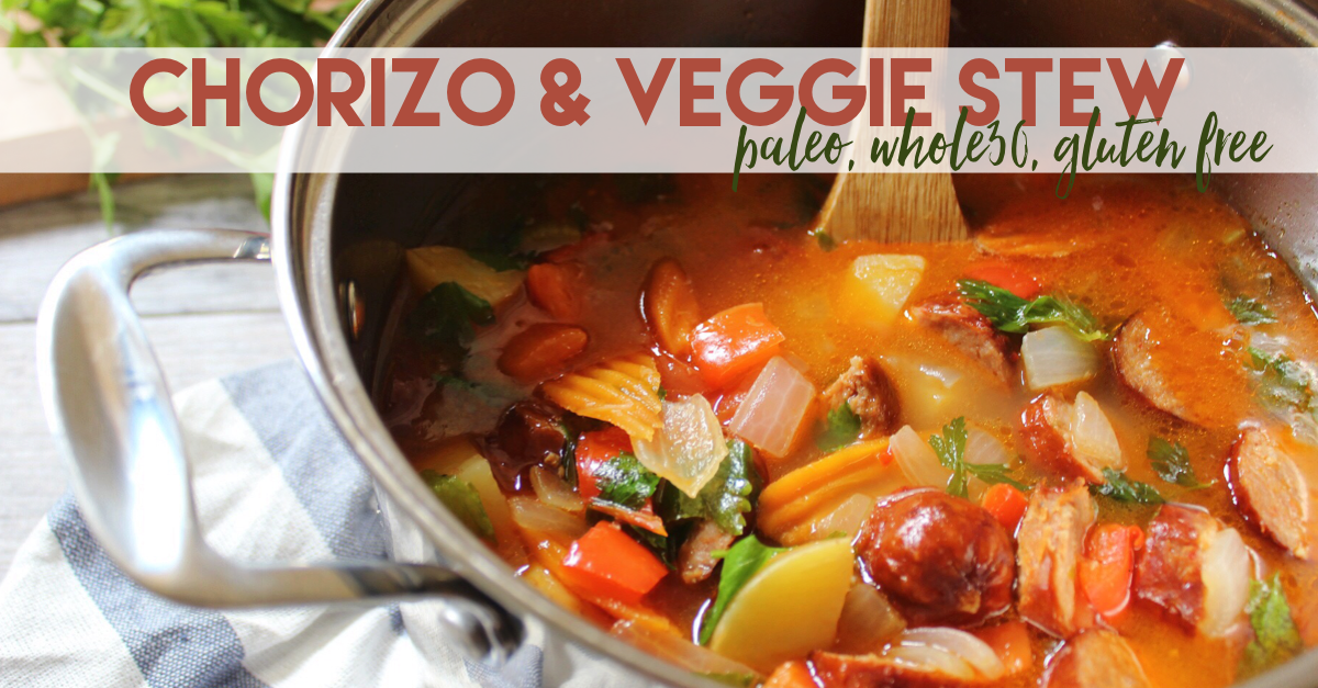 chorizo and veggie stew