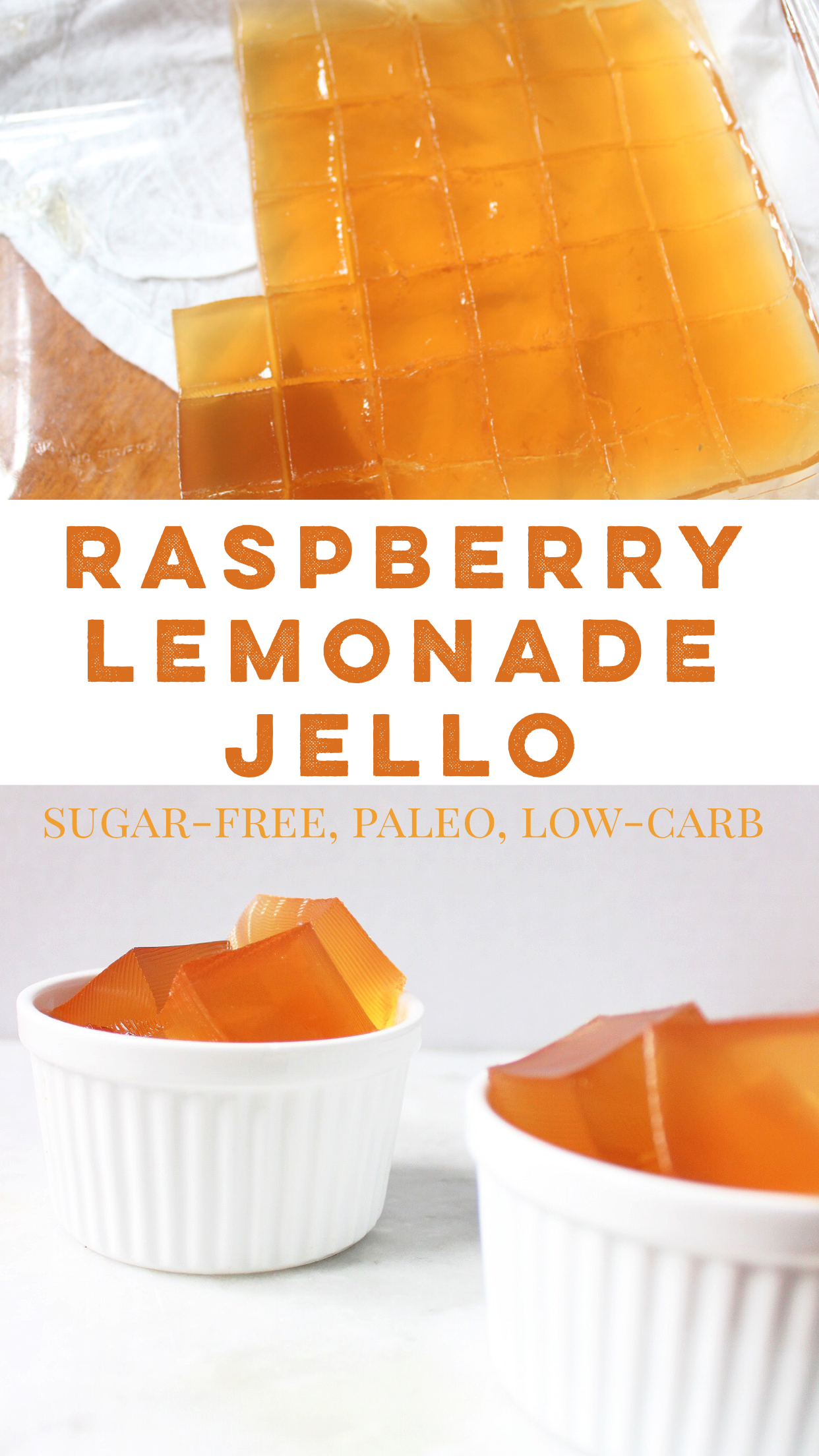 paleo raspberry lemonade jello