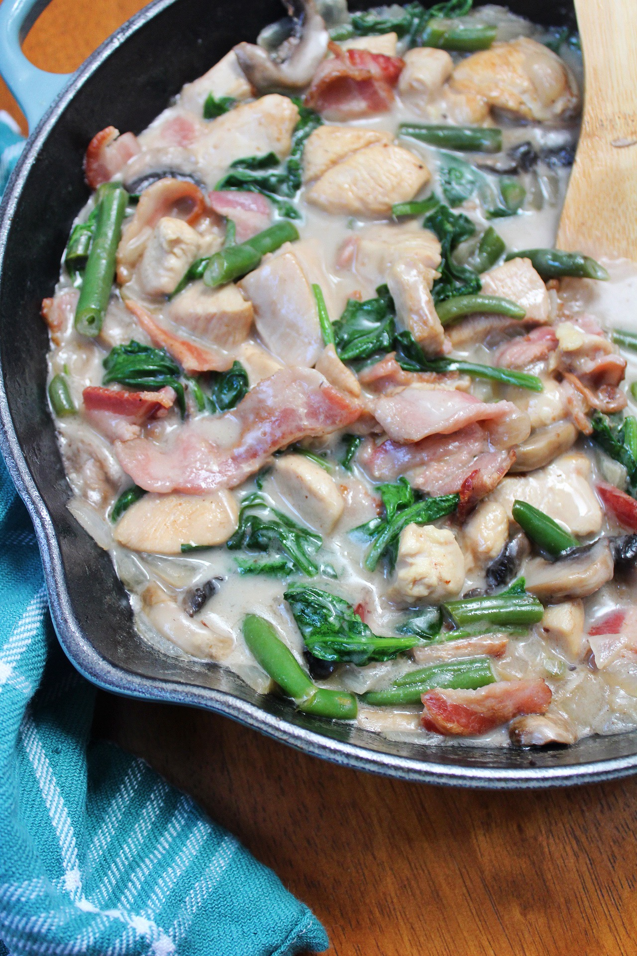 one pot creamy chicken and veggies