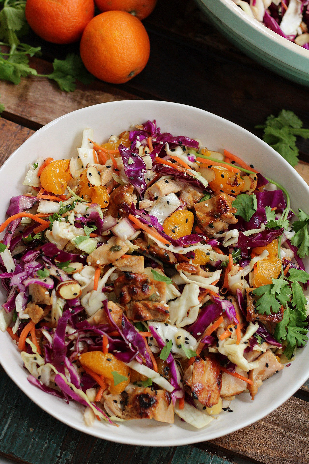 Healthy Sesame Chicken Chopped Salad Paleo Whole30 Whole Kitchen Sink