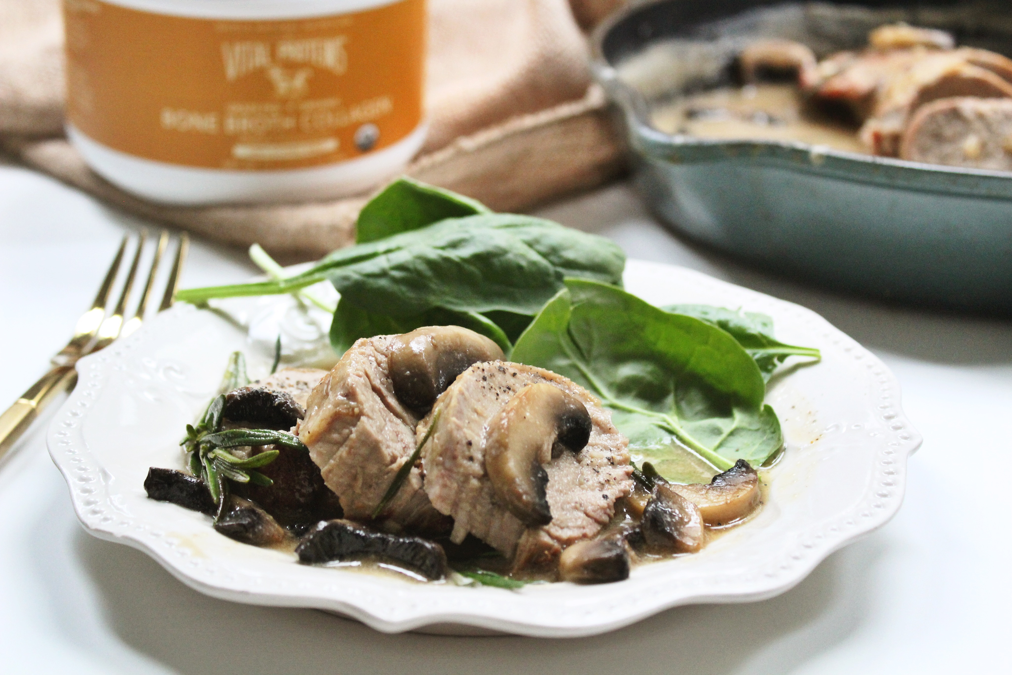 pork tenderloin and rosemary mushroom gravy