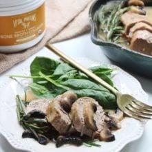 Pork Tenderloin with Rosemary Mushroom Gravy: a 30 Minute Savory Paleo Dinner