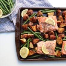 Sheet Pan Lemon Garlic Salmon and Veggies: A Hands Free Healthy Dinner