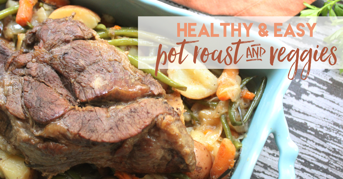 one pan pot roast and veggies