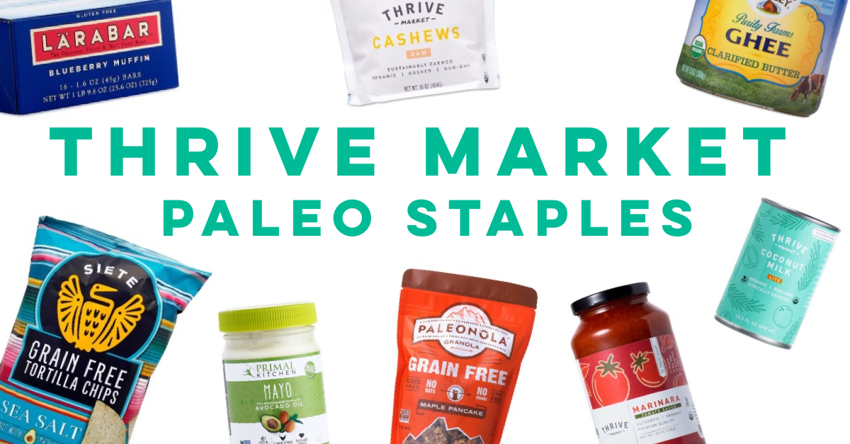 thrive market paleo staples