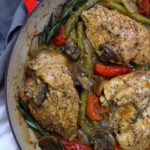 one pan mustard chicken and veggies