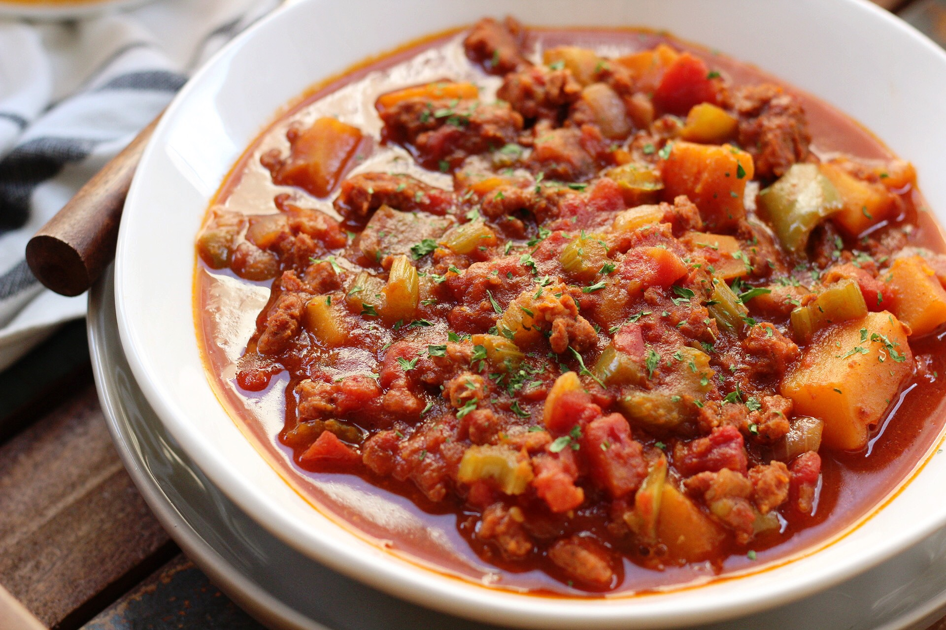 chorizo and butternut squash chili