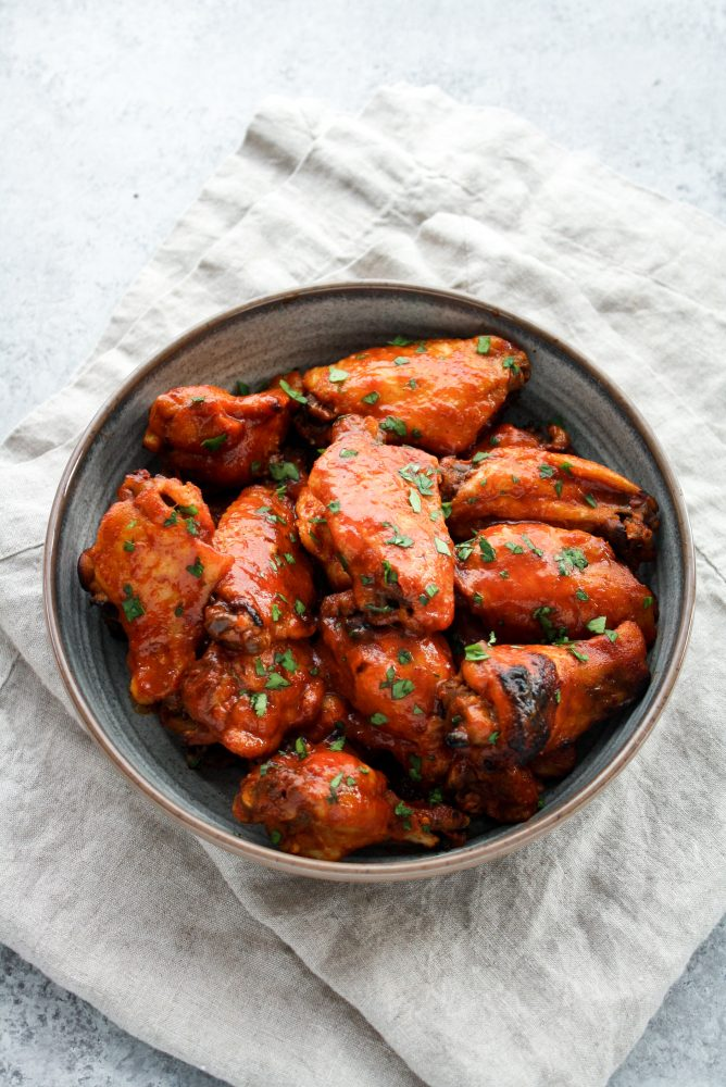 sweet and spicy barbecue wings