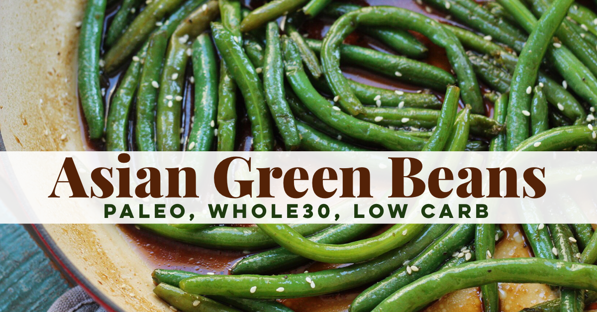 Simple but tasty vegetable side dish! These Whole30 green beans are an easy paleo side dish to go with any meal, and a family friendly vegetable recipe! #paleo #lowcarb #whole30 #greenbeans #paleosidedish via @paleobailey