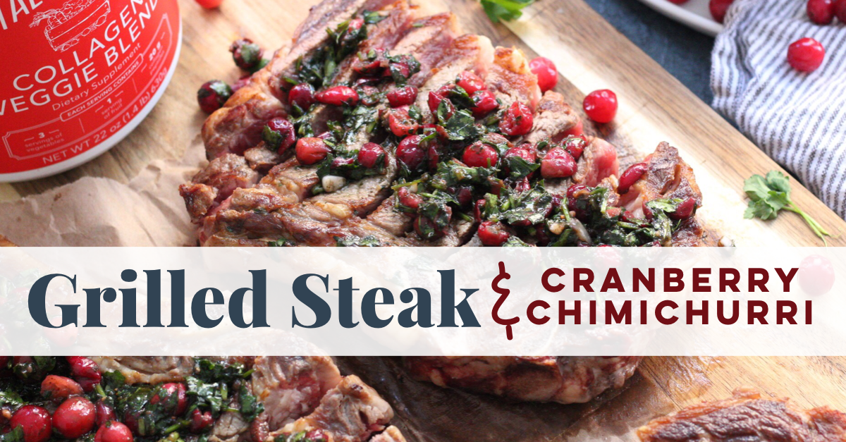 grilled steak cranberry chimichurri