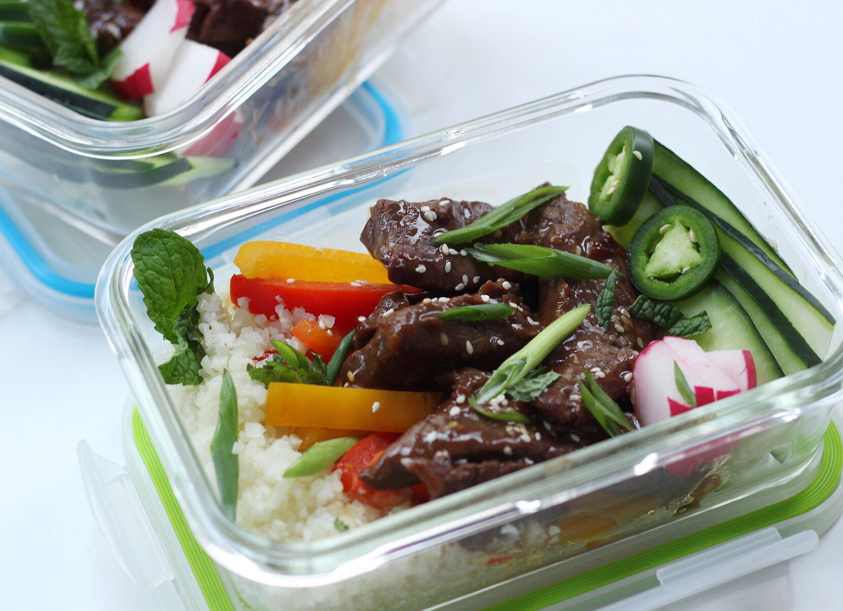 Korean beef bowls