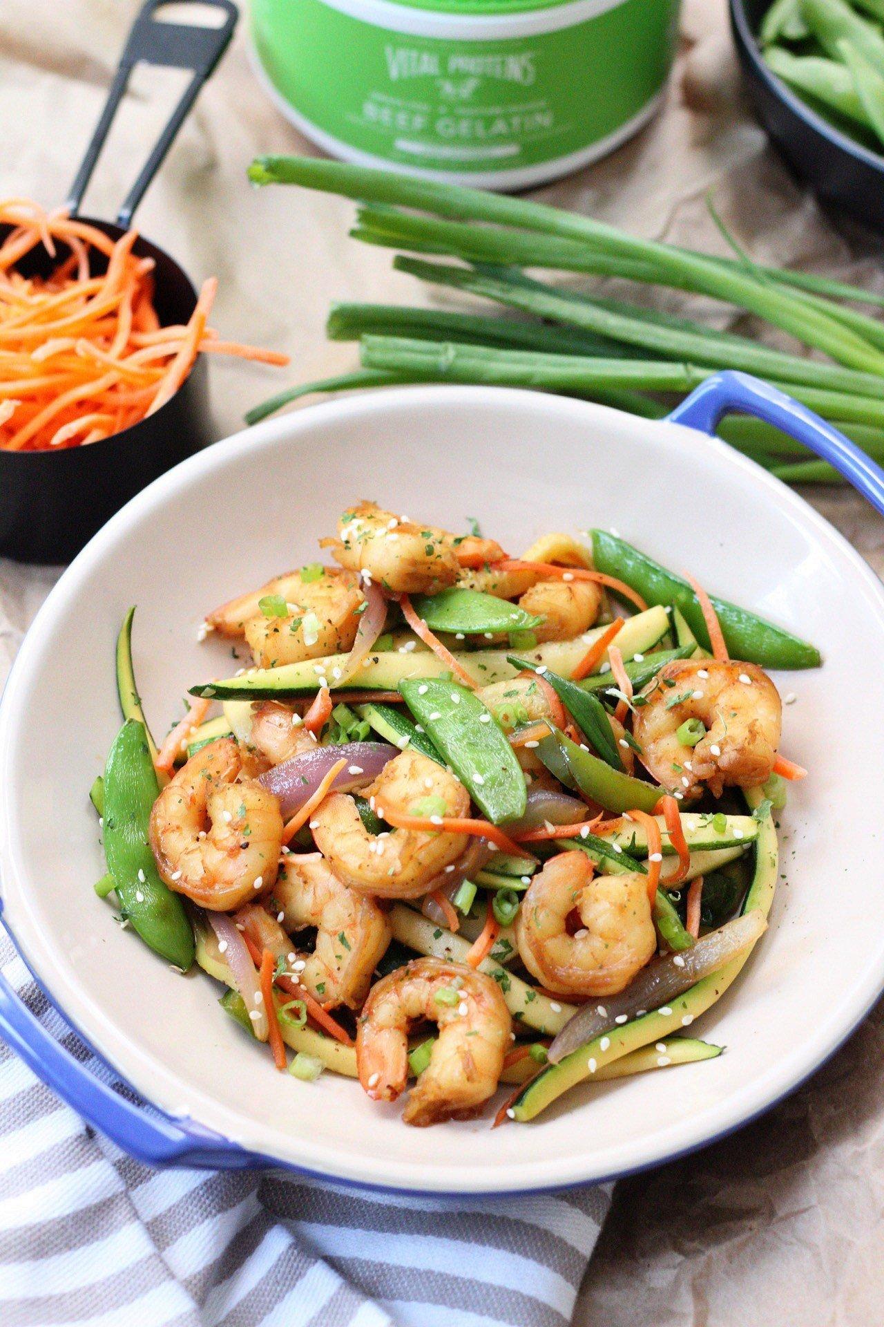 paleo shrimp stir fry