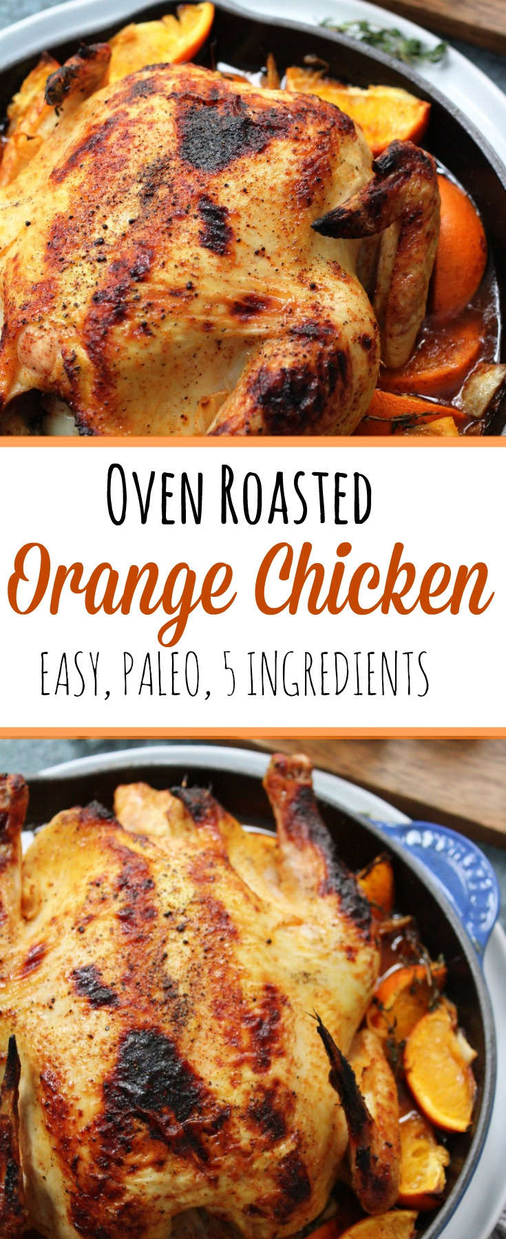 Oven roasted orange chicken is an easy paleo chicken recipe that only takes simple ingredients! It's great for a paleo dinner, meal prep, or changing it up from your usual chicken recipe! #paleorecipes #paleochicken #paleochickenrecipes