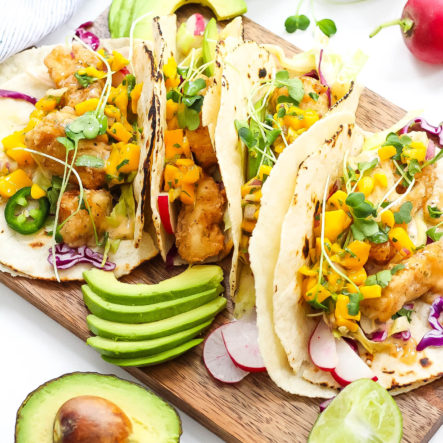 Paleo Fish Tacos with Mango Salsa: Gluten-Free and 25 Minutes