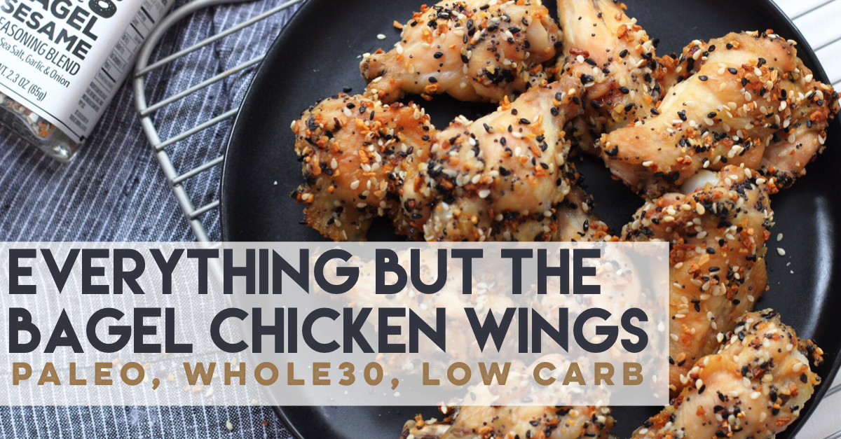 everything bagel chicken wings
