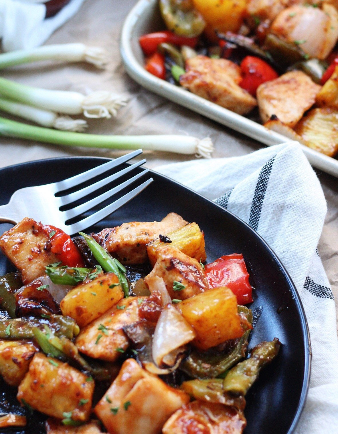 whole30 sheet pan sweet and sour chicken