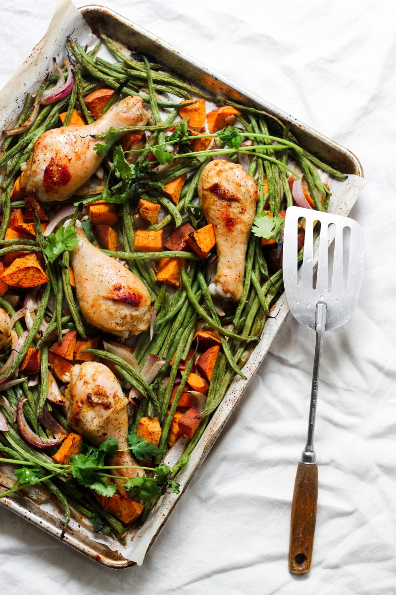 whole30 sheet pan curry chicken