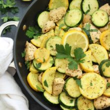 Whole30 Lemon Chicken and Squash Skillet (Paleo, Low Carb)