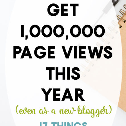 How to Reach 1,000,000 Page Views In One Year Of Blogging