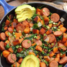 Sausage and Sweet Potato Paleo Egg-Free Breakfast Skillet