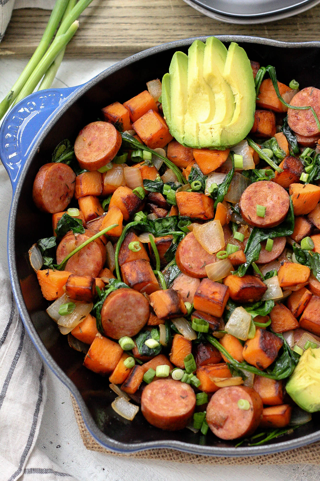 Sausage And Sweet Potato Paleo Egg Free Breakfast Skillet Whole30 And 15 Minutes