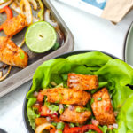whole30 sheet pan fish fajitas