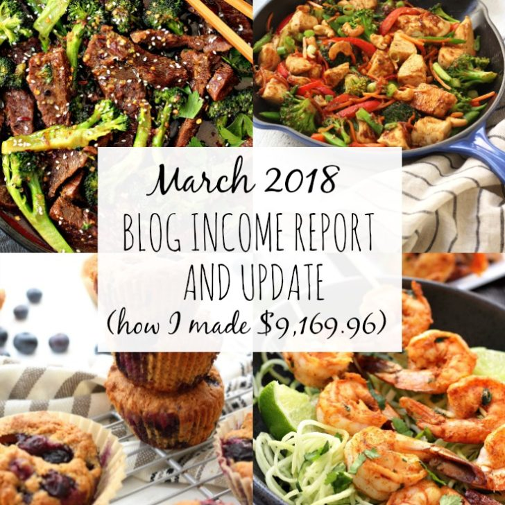 March 2018 Income Report & Food Blog Update