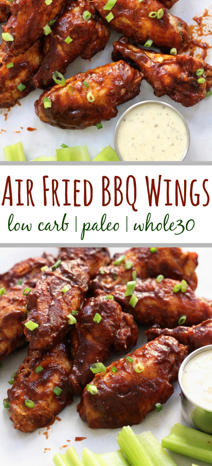 Air Fried Bbq Wings Whole30 Paleo Low Carb Whole Kitchen Sink