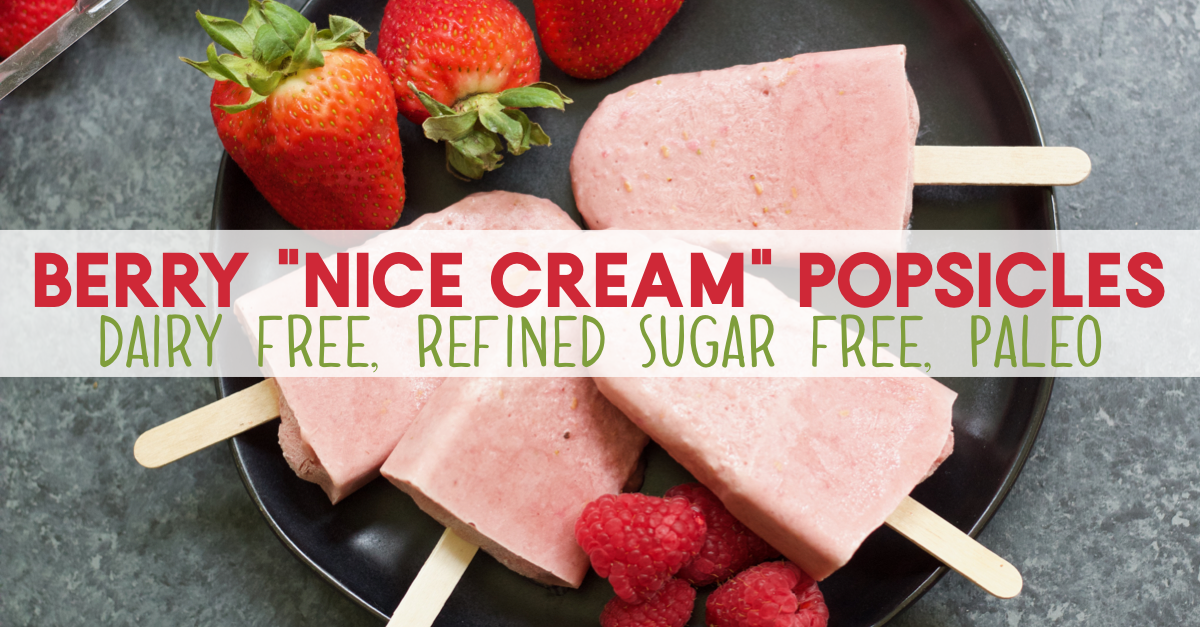 Summer is here! Time to cold down with a treat that's actually good for you! These collagen peptide packed berry popsicles are dairy free, and totally Paleo. Using only 4 other simple ingredients, fresh fruit and only a blender, these Paleo popsicles are going to be on repeat all summer long. #paleopopsicle #dairyfreepopsicle #berrypopsicle #collagenpeptides