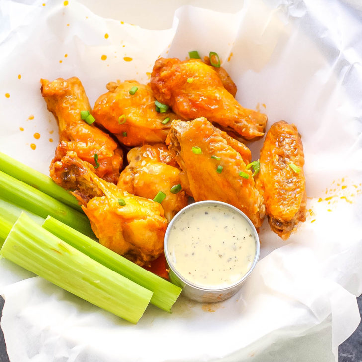 Air Fryer Buffalo Wings (Whole30, Paleo) & Oven Instructions