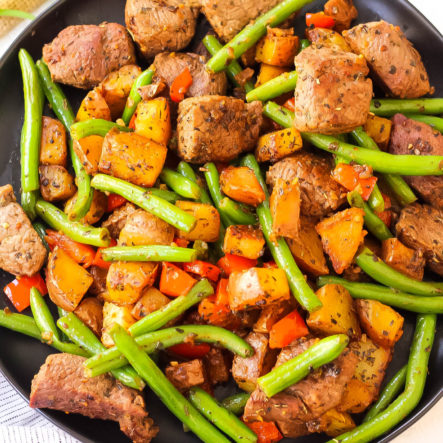 Whole30 Steak and Vegetable Skillet: Paleo One Pan Meal