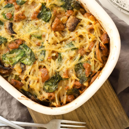 Creamy Sausage & Potato Whole30 Casserole (Paleo + GF)